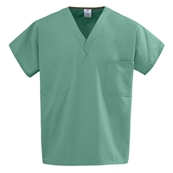 100% Cotton Reversible V-Neck Scrub Top