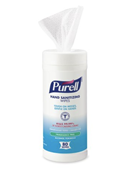 Hand Sanitizing Wipe Purell® 80 Count Ethyl Alcohol Wipe Canister